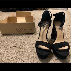 Black high heel sandals
